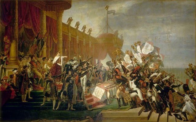 800px-Jacques_Louis_David_-_Serment_de_l'armée_fait_à_l'Empereur_après_la_distribution_des_aigles,_5_décembre_1804_-_Google_Art_Project