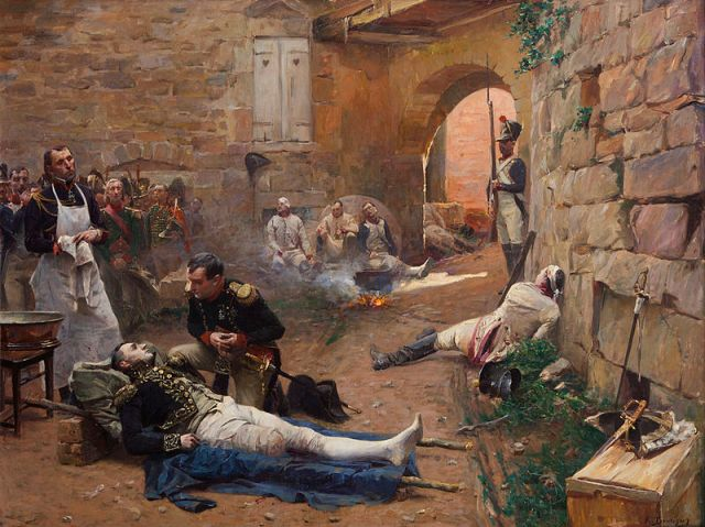 Lannes_mortally_wounded_at_Essling_(E._Boutigny)