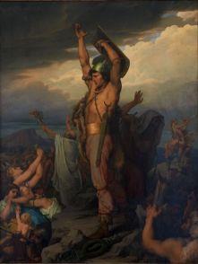 Fig.6 François-Emile Ehrmann, Vercingétorix appelant les Gaulois à la défense d'Alaise, 1869, huile sur toile, H. 197 x L. 150, Ville de Clermont-Ferrand, musée d'art Roger Quilliot, 2385
